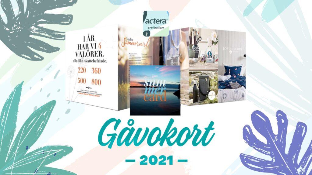Actera Profilreklam Sommargåvor Gåvokort 2021