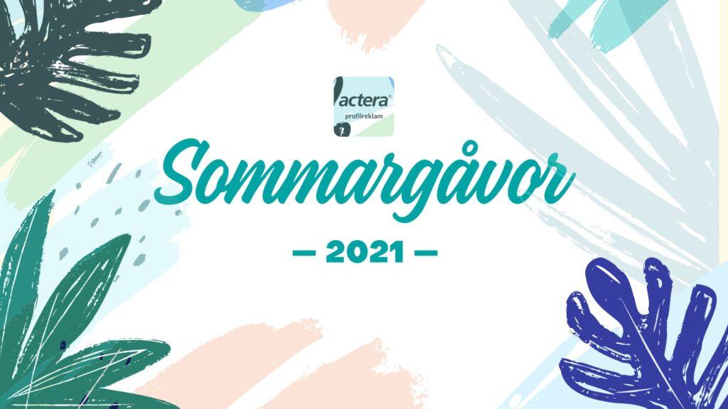 Actera Profilreklam Sommargåvor 2021